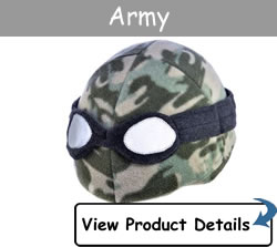 Happy Headbangers Helmet Hat - Army Style