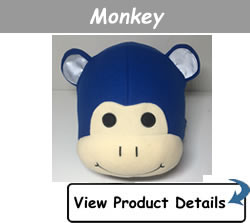 Happy Headbangers Helmet Hat - Monkey Style