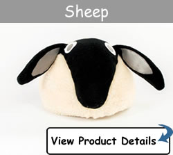 Happy Headbangers Helmet Hat - Sheep Style