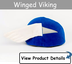 Happy Headbangers Helmet Hat -  Winged Viking Style